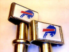 2- Buffalo Bills Quality Stainless Steel USA Cribbage Pegs W/ Black Velvet Pouch