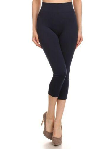 Para Mujeres Color Sólido Sin Costuras Pretina ancha Leggings Capri