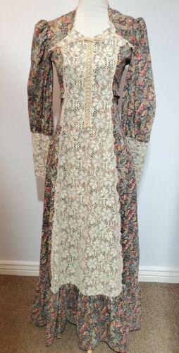 vintage gunne sax prairie dress Small womens tall… - image 1
