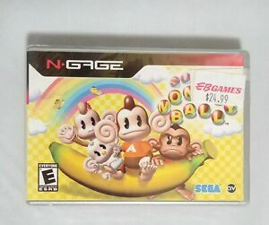 NEW-Shrinkwrapped-SUPER-MONKEY-BALL-for-NOKIA-N-GAGE-US-Version-w-EB-GAMES-tag