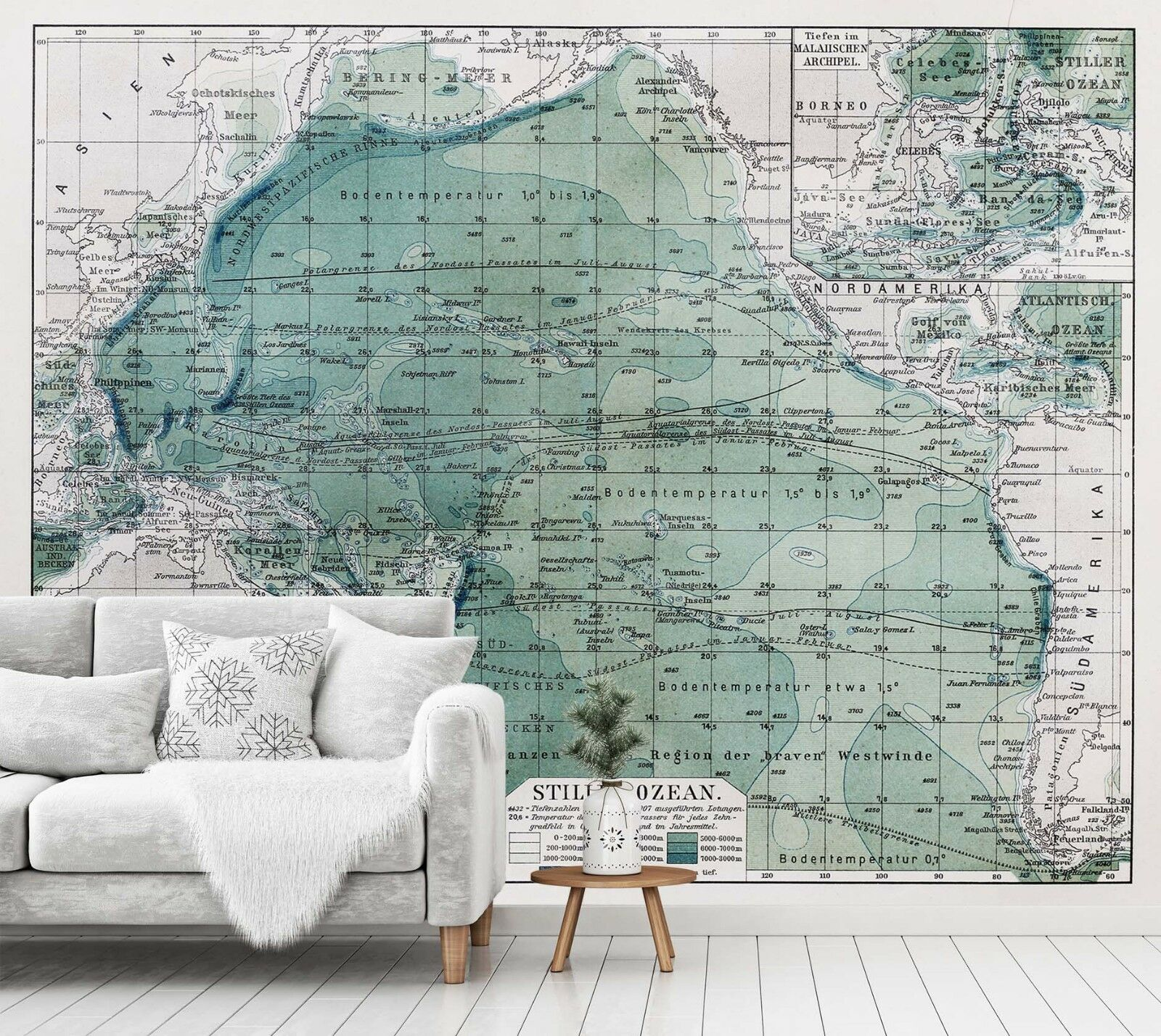 3D Ocean Style World Map 5 Wall Paper Wall Print Decal Deco Indoor Wall Mural CA