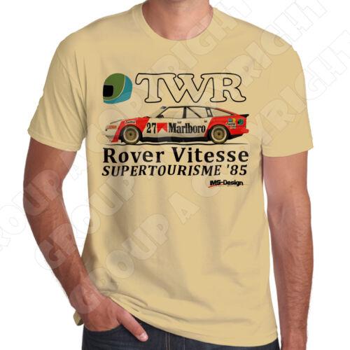 Supplément Rover Vitesse français SUPERTOURISME 1985 Rétro Touring Voiture T-shirt