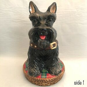 David-039-s-Cookies-Scottie-Dog-Cookie-Jar-China-Jeffrey-Banks