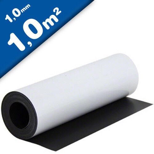 Meterware Magnetfolie weiß matt beschichtet 1mm x 100cm x 100cm