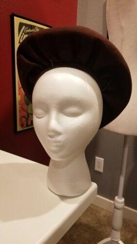 Vtg 40s Gathered Halo Crown Platter Hat