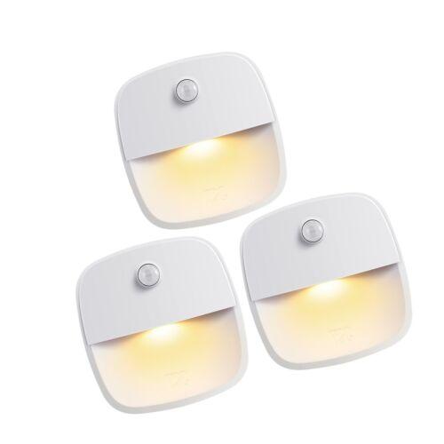 Cordless Battery-Powered LED Night Light AMIR Motion Sensing Light Wall Lig...