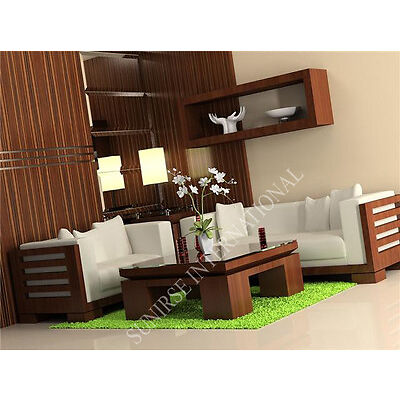 Contemporary Wooden Sofa Set With 1 Center Table (SUN WSS180)