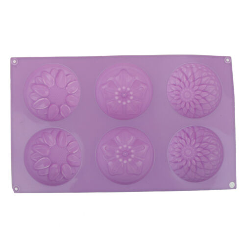 Silicone Soap Mold Flower Pattern Rectangular Handmade Soap Making DIY Mould Tn