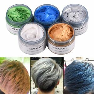 Details zu 120g Hair Coloring Wax Silver Ash Grey Strong Hold Temporary  Hair Dye Gel
