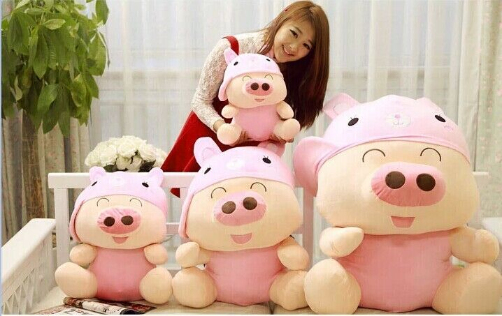 McDull Pig Brithday Gift Candy Plush Lovely Stuffed Doll 10