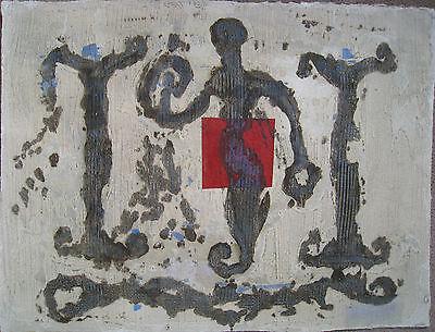 Pierre-Marie BRISSON - Gravure au carborundum chevalerie avec collage*