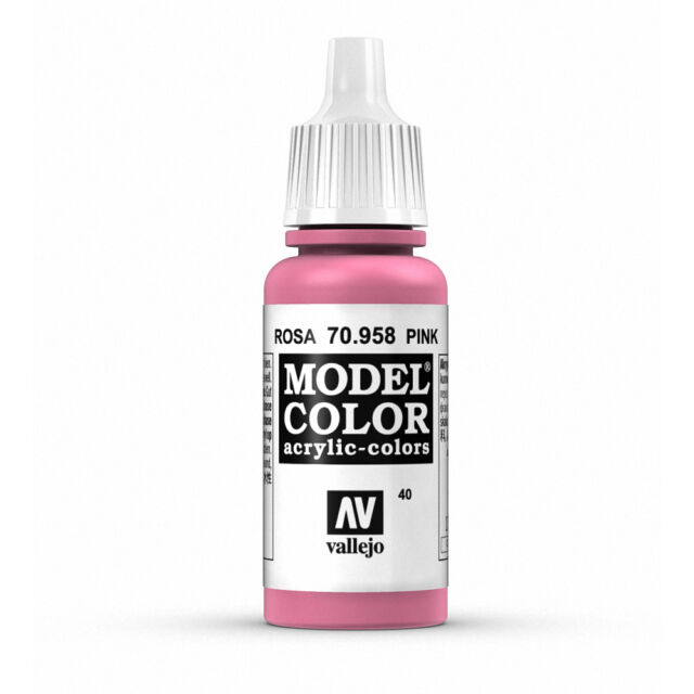 Vallejo Model Color Pink Val70958 Acrylic Paint 17ml Bottle 040