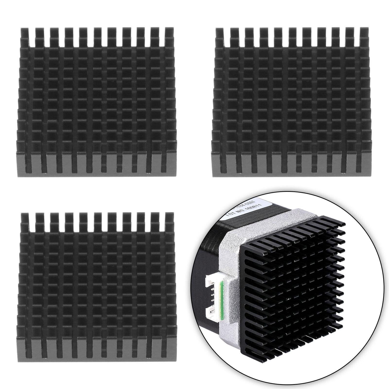 3Pcs Cooling Fin Heatsink Compatible with NEMA 17 42 Stepper Motor 40x40x10mm