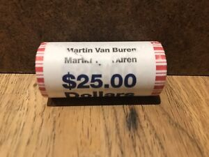"""2008 James Monroe Presidential /""""Unopened/"""" Bank Wrapped Dollar 25 Coin ROLL"""