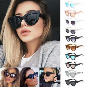 Fashion Ladies Womens Cat Eye Sunglasses Vintage Style Retro Shades Oversized