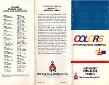 Sherwin Williams Metalatex Semi-Gloss Enamel 1973 Brochure & Color Chart