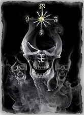 Skull in smoke  Wall Clock  Makes Great Gifts