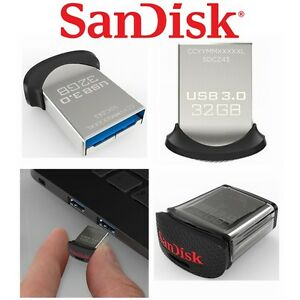 USB Drive 32GB 64GB 128GB 16GB SanDisk Ultra Fit  3.1 Flash Memory Stick SDCZ430