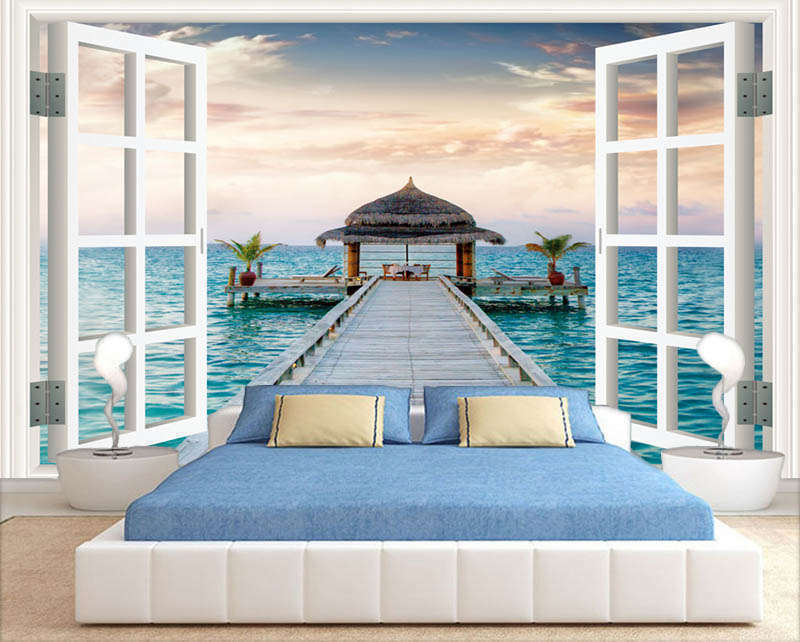 Marvelous Ripe Sea 3D Full Wall Mural Photo Wallpaper Printing Home Kids Decor