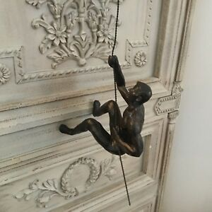 Image Is Loading Bronze Style Climbing Man Wall Art Decoration Climber