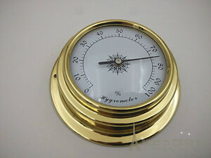 70mm Brass Enclosed  Hygrometer