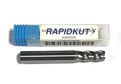 "Rapidkut 7//16/"" Carbide Stub Double End Mill 2 Flute 30 Deg Helix USA Made"