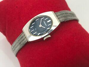 Seiko Vintage Watch Hand Winding Ladies Wrist Watch Silver Tone Analog