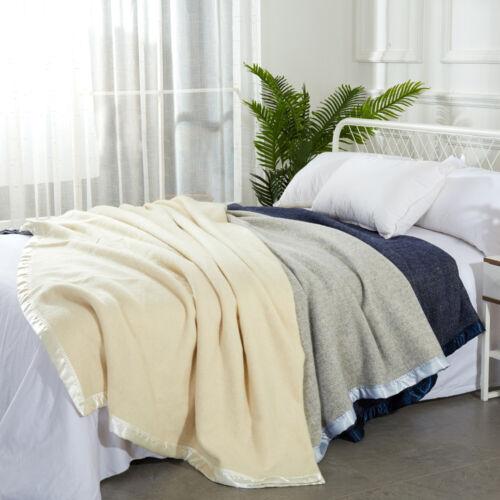 Australian Merino Wool Blanket375gsmHerringbone Woolen Blanket