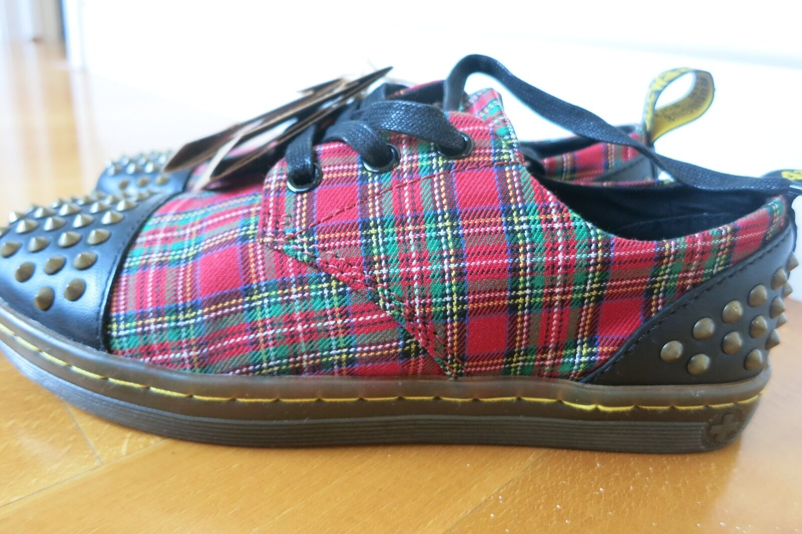 grandi offerte NEW Doc Dr. Martens Donna Donna Donna  Aldstud scarpe da ginnastica donna US 5 Plaid Canvas  rivenditori online