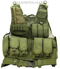 Lost Woods OD Green Tactical Vest 11 Front Pockets/3 Rear Pockets/Gun Holster