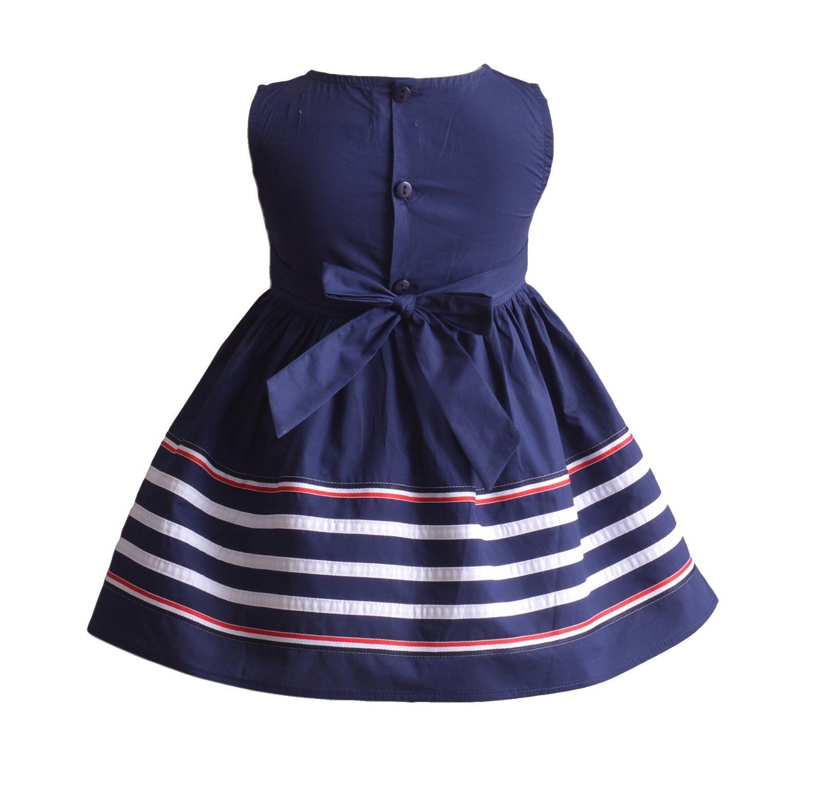 d94d005ac Cinda Baby Girls Red Striped Cotton Summer Party Dress 12-18 Months ...