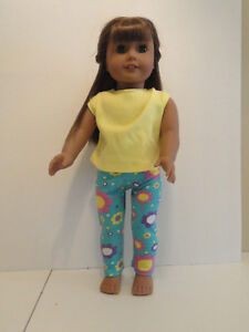 """Doll Clothes 18/"""" Pajamas Pants Polka Dot Top Lime Slippers Bunny Fits AG Dolls"""