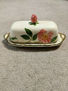 Estate Franciscan Desert Rose Covered Butter Dish USA 1953-1958