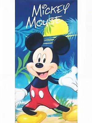 Originale Telo Mare Bambino Mickey Mouse In Micro Spugna 70x140 Cm Idea Regalo Bimbo -4269