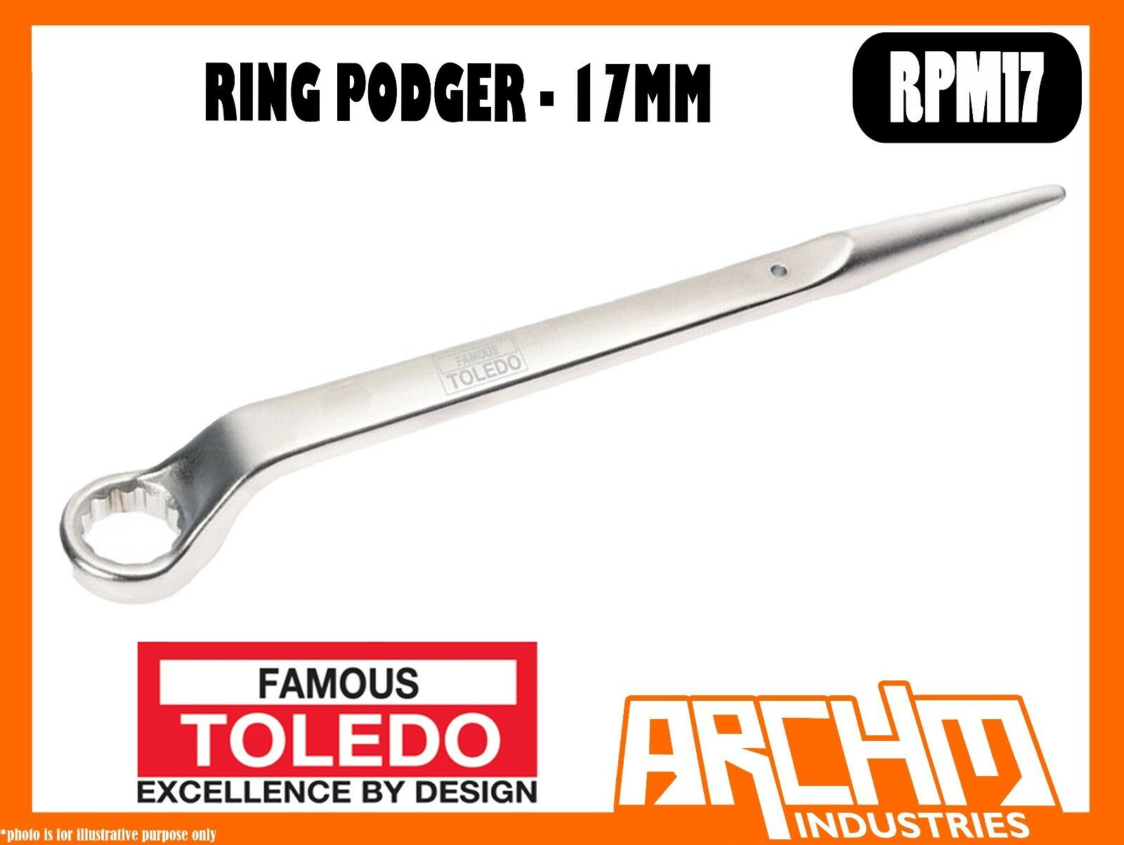 TOLEDO RPM17 - RING PODGER - 17MM - METRIC