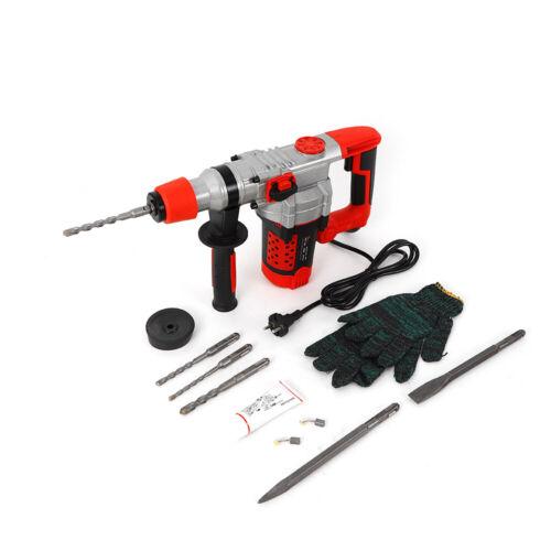 2200W Bohrhammer Schlagbohrmaschine Bohrmaschine Stemmhammer mit Bohrersatz DHL