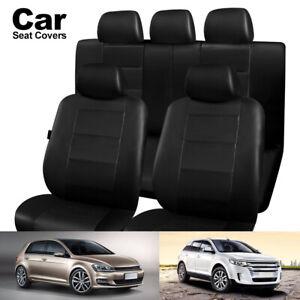 HOUSSES-SIEGE-UNIVERSELLE-VOITURE-complet-Airbag-noir-lavable-compatible-sport