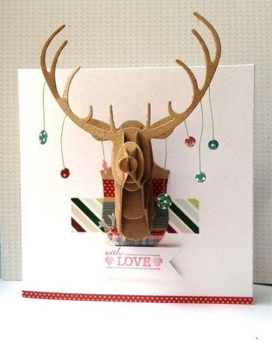 DOCRAFTS Xcut Large DIE Ciervo Cabeza de Navidad en el país-XCU503159