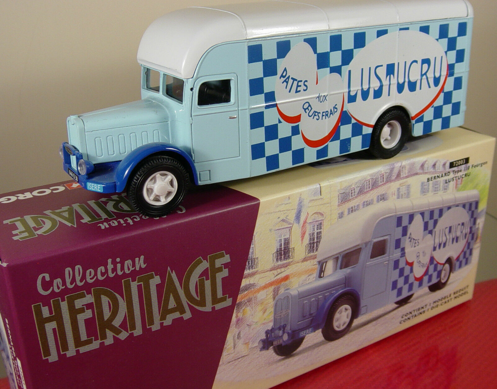 CORGI 72003  FRENCH COLLECTION HERITAGE  LUSTUCRU VAN   1 50 SCALE  MINT BOXED