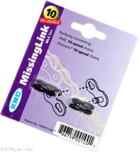Two-2-Pack-KMC-10-Speed-DLC-MissingLink-Bike-Chain-Links-for-KMC-amp-Shimano