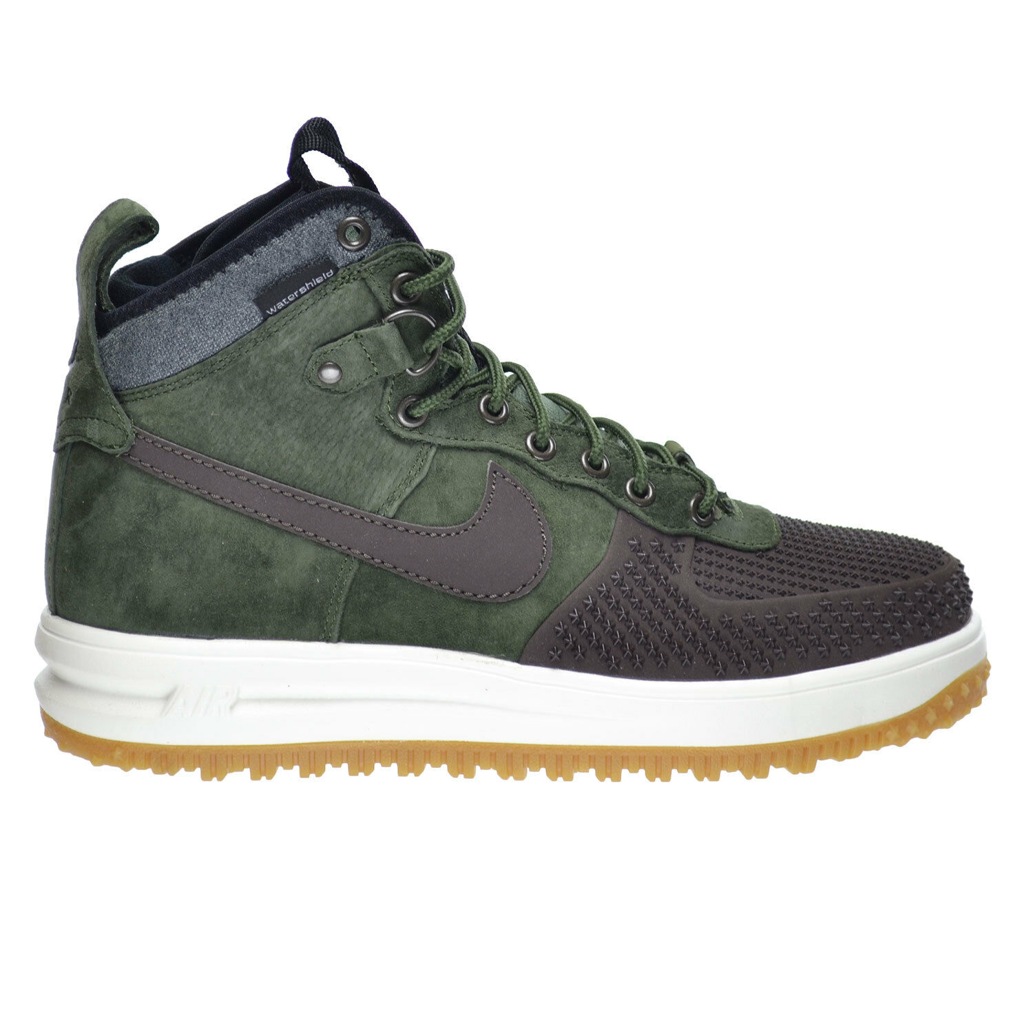 Nike Lunar Force 1 Duckboot Men's shoes Brown Army Olive-Black-Sliver 805899-200