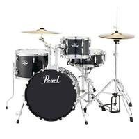 Pearl Roadshow Rs584cc31 4-pc Drumset W/ Hardware & Cymbals, Jet Black