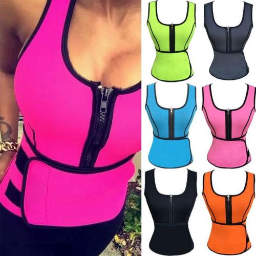 Women Body Shaper Sport Latex Rubber Waist Trainer Cincher Corset Vest Shapewear