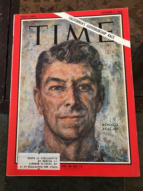 Time Magazine, Ronald Reagan, October 7, 1966  California's Governmentship Race*
