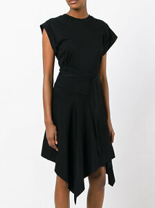 Nwt Isabel Marant Black Loko Cotton Jersey Wrap Dress