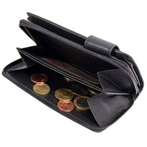 Damen Geldbörse Leder Damenbörse Portemonnaie Branco Geldbeutel Portmonee 22373