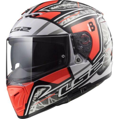 LS2 Breaker FF390 Challenge Motorcycle Helmet Red//Gray