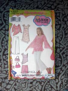 Oop-Simplicity-4722-Lizzie-McGuire-girls-dress-pants-shorts-purse-size-8-16-NEW