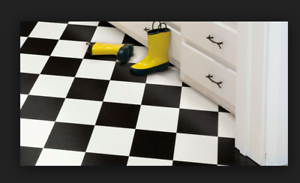 Image Is Loading 12 039 Black White Checkered Checkerboard Garage Kitchen