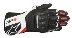 GUANTI-MOTO-ALPINESTARS-GLOVES-SP-8-V2-BLACK-WHITE-RED-PROTEZIONI-CE